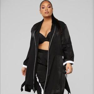 Fashion Nova 2 piece PJ set w/ Robe & pants 1X